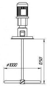 мешалка для интенсификации растворение гранул карбамида