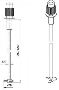 Графическое изображение мешалки МДЛТ-110