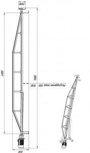 Мешалка пропеллерного типа для очистных сооружений МДПТ-БР-ВОП