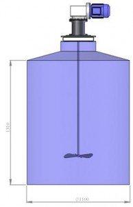 Мешалка для приготовления водного раствора