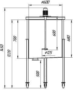 Графическое изображение мешалки МДПТ-125