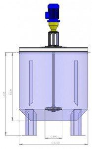 Электромешалка турбинного типа (закрытая турбина),