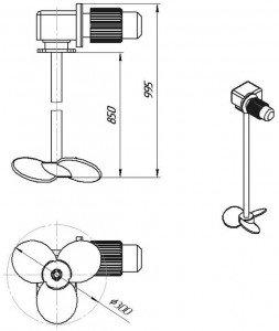 Графическое изображение мешалки МДПТ-300