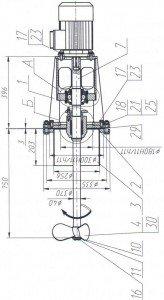 Пропеллерная мешалки для перемешивания суспензии