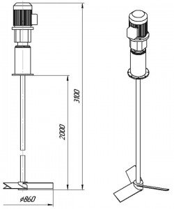 Графическое изображение мешалки МДЛТ-860