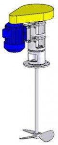 Электромешалка винтового типа МДВТ-1х300