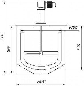 Графическое изображение устройства для растворения коагулянта
