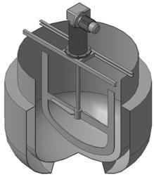 Аппарат с якорной мешалкой для перемешивания клея