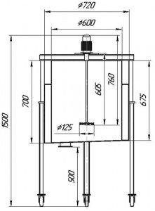 Графическое изображение мешалки МДЗТ-125