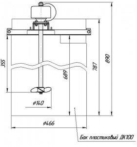 Графическое изображение мешалки МДПТ-140